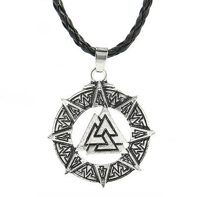 Valknut Odin's Symbol of Norse Viking Warriors Pewter Pendant Necklace