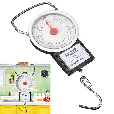 1pc 22kg 50lb Portable Scales Luggage Suitcase Travel Bag Weight Hanging Hook