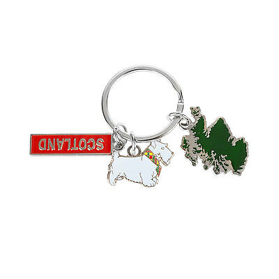 Heritage of Scotland Scotland/Westie Map Keyring