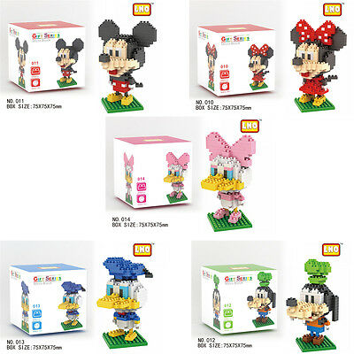 Disney Mickey Minnie LNO BLOCK Micro Mini Building Nano Block LOZ Iblock Gift
