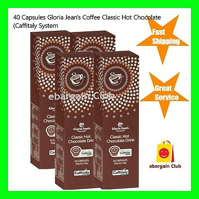 40 Capsules Gloria Jeans Coffee Classic Hot Chocolate Drink Pod Caffitaly