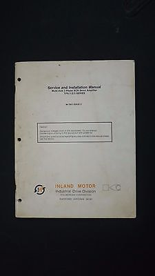 Service and Installation Manual Inland Motor Industrial Drive Division