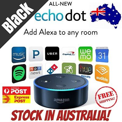 LATEST 2017 MODEL Amazon Echo Dot 2 Alexa Voice Enabled Smart Device BLACK
