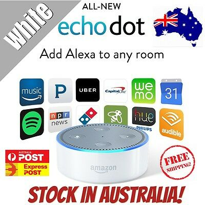 LATEST 2017 MODEL Amazon Echo Dot 2 Alexa Voice Enabled Smart Device WHITE
