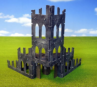 Unpainted Gothic Ruins, Modular kit  - Warhammer 40k Scenery Infinity Boltaction