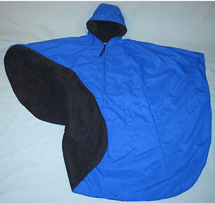 Mobililty Scooter & Wheelchair 100% Fully Lined Deluxe Poncho Universal (Navy)