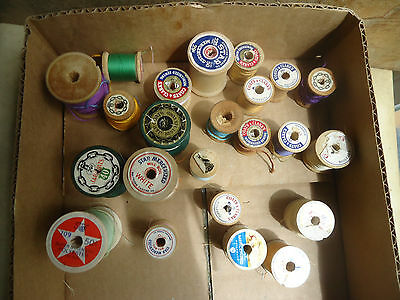 Crafts Assortment of Wooden Spools 23, Variety of Sizes