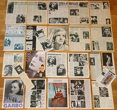 GRETA GARBO spanish clippings 1960s/80s vintage magazine articles photos actress