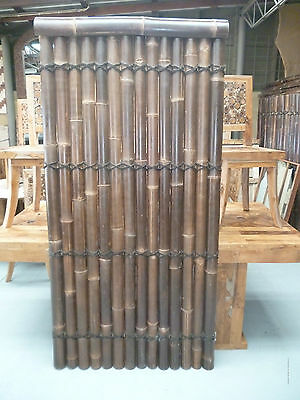 BAMBOO FENCE PANEL 2.0M x 1M BLACK - DOUBLE Lacquered, Sydney NSW