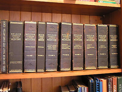 1940s Vintage Medical Books Nelson Loose Leaf Living Medicine Infectious Disease