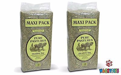 Pure Pastures Meadow Hay Maxi Bale 4kg x 2 or 5 Rabbit / Guinea Pig / SM Animal