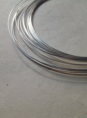 .925 Sterling Silver Round 20 Gauge Half Hard Wire - By The Foot