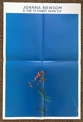 """JOANNA NEWSOM large 24""""x18"""" Unused Promotional Poster for Ys Street Band 12"""""""