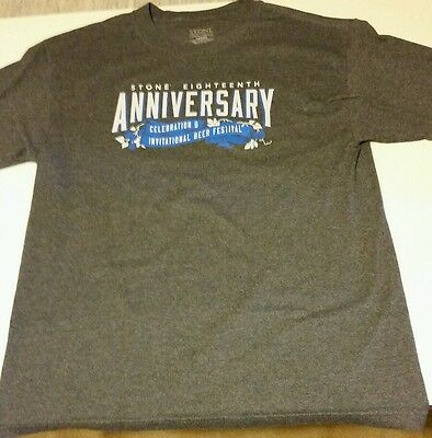 Stone Brewery Brewing Shirt Craft Beer 18th Anniversary IPA Sz L