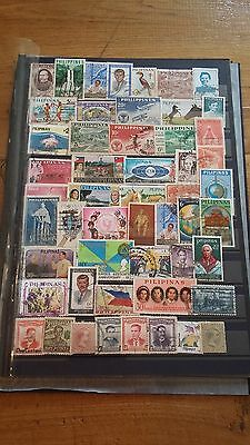 51 timbres Philippines (lot 17)