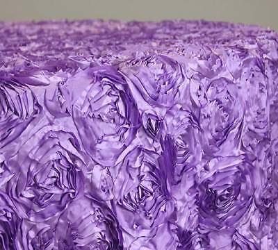 Round satting rossette table cloths-Lilac.