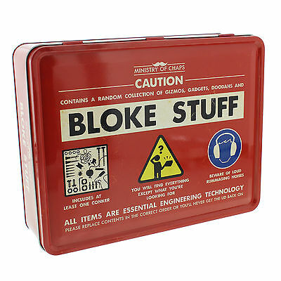 Ministry of Chaps Bloke Stuff Tin Men's Storage Container Novelty For Him