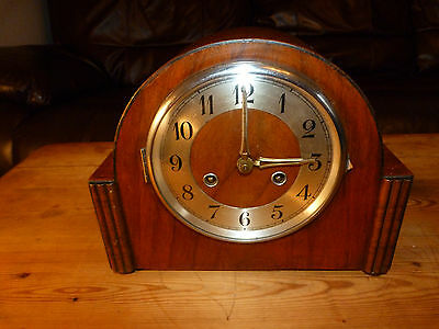 Early Franz Hermle & Sohn Chiming Mantle Clock Beautiful!