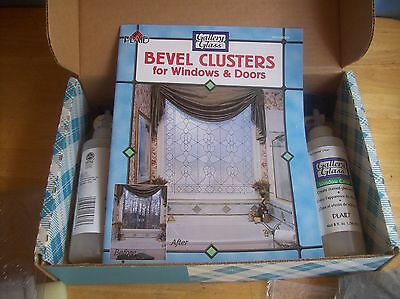 QVC Plaid Gallery Glass Bevel Clusters For Window & Doors Kit #2 NOS