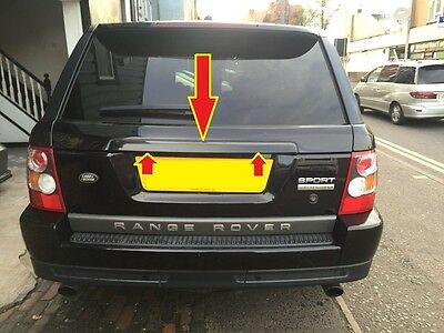 Gloss Black Tailgate Trim Cover Fits Range Rover Sport 2005-2011 Boot Rear
