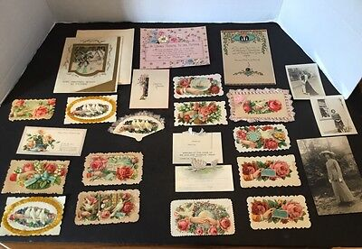 Antique 1920S Greeting Cards Christmas Love New Years
