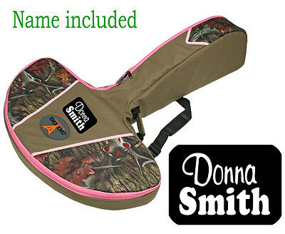 "40"" CROSSBOW CASE PINK URBAN CAMO Archery Case ""INCLUDES NAME"" Carbon Express"