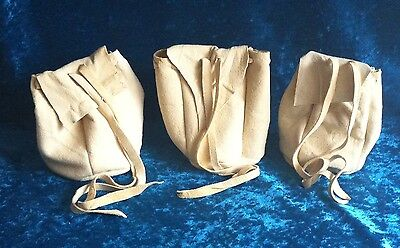 Chamois suede drawstring pouch coin purse mediaeval renactment LARP SCA gift