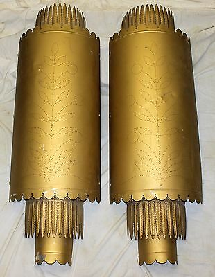 "1920's LIGHTOLIER WALL SCONCES Home Movie Theater LARGE 49"" long ART DECO"