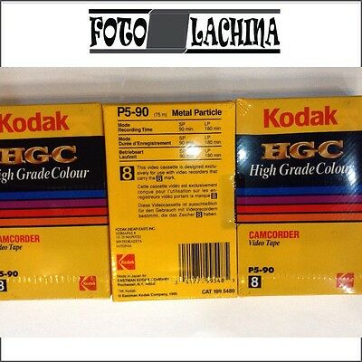 KODAK HGC P5-90 video 8 Metal Particle , 3 pezzi