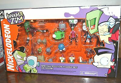 Invader Zim Special Edition Figure Set Of Doom New In Box Variants Zim Gir Dib +