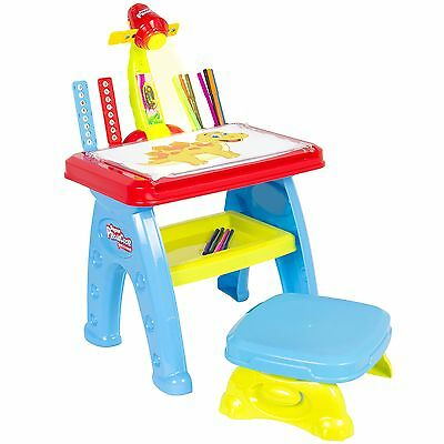 Best Choice Products Projector Learning Drawing Table With Chair Easel Marker...
