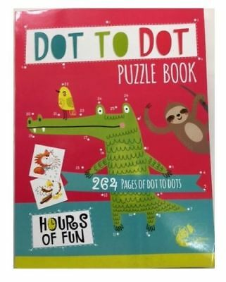 Dot To Dot Puzzle Book 300 Pages Big A4 School Child Children Kids Colouring