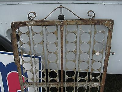 Vintage rustic fence Garden Gate metal using WW2 track primitive