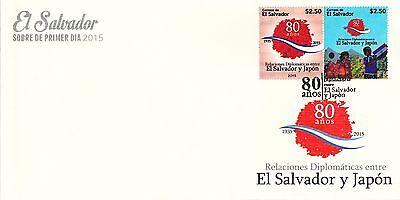 El Salvador 2015 Fdc 80Th Anniv Diplomatic Relations With Japan