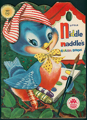 Uncolored LITTLE NIDDLE NADDLE'S COLORING BOOK #4892 Merrill 1956 (5187)