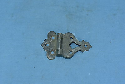 Antique ICE BOX HARDWARE OFF SET HINGE BRASS RESTORATION PART OLD Lot #49
