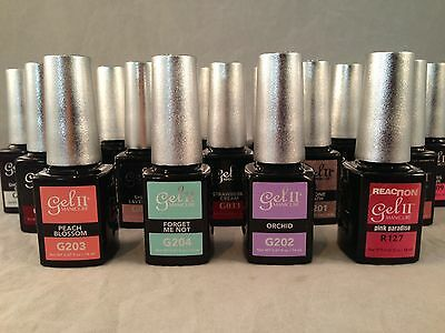 gel II Manicure Soak Off Gel Nail Polish Assorted Colors & Top Coat, Your Choice