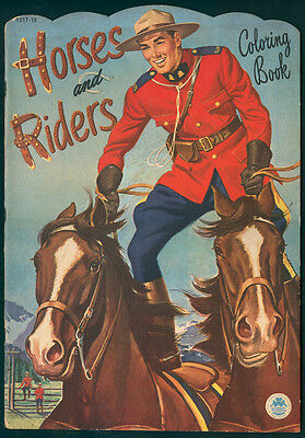 """UNCOLORED """"Horses and Riders"""" #1517 Merrill 1951 (5115)"""