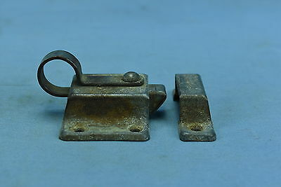 Antique TRANSOM LATCH & CATCH PLATE KITCHEN CABINET HARDWARE OLD LOT #67