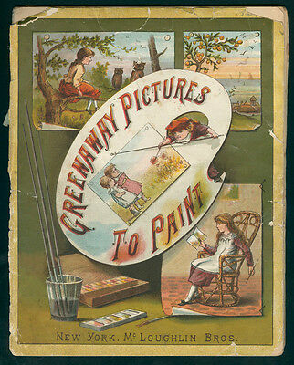 """UNCOLORED McLoughlin Bros """"Greenaway Pictures to Paint"""" (5878)"""