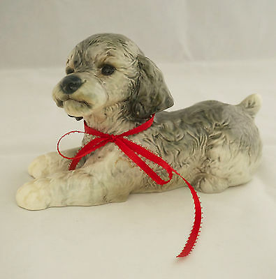 "Vintage Huge Goebel Gray Spaniel Dog Figurine 10 x 6"" W. Germany 30 033 15 Rare"