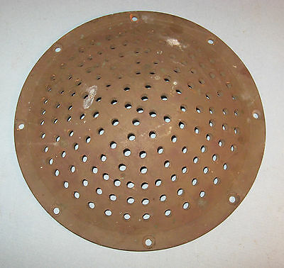 Heavy Brass Dished Drain Cover Holes Industrial Art Steam Punk Machine Repurpose