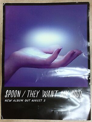"""SPOON They Want My Soul Unused Promotional Poster 18"""" x 24"""" Britt Daniel"""