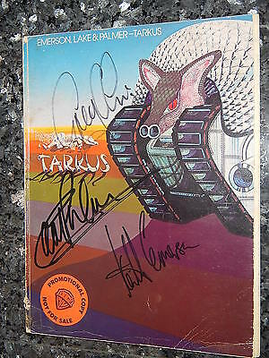 Emerson, Lake & Palmer, Rare Elp 1980 Tarkus Songbook - Signed Autographed!