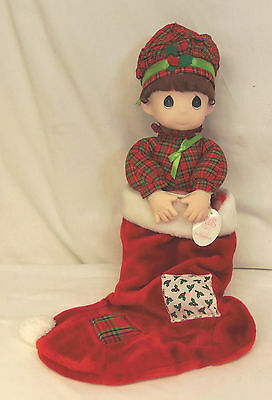 1996 Precious Moments NOEL Christmas Stocking Doll QVC Special 4th Edition NEW