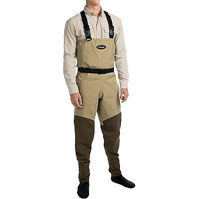 Frogg Toggs Canyon Breathable Fly Fishing Chest Waders Belt Stocking Foot Large