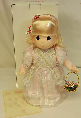 """1997 Precious Moments PRETTY AS A PRINCESS Janelle 12"""" Doll QVC 1st Edition NEW"""