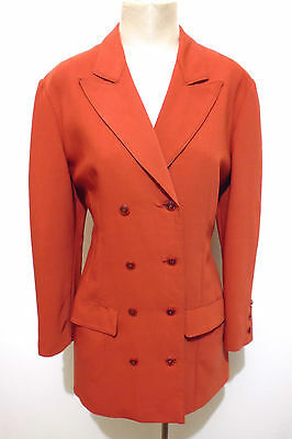 CULT VINTAGE '70 Cappotto Donna Lana Woman Wool Trench Coat Sz.L - 46