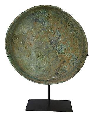 Antique Bronze Tray from Thailand on Stand