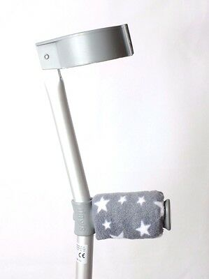 Padded Handle Comfy Crutch  Covers/pads - Grey Stars
